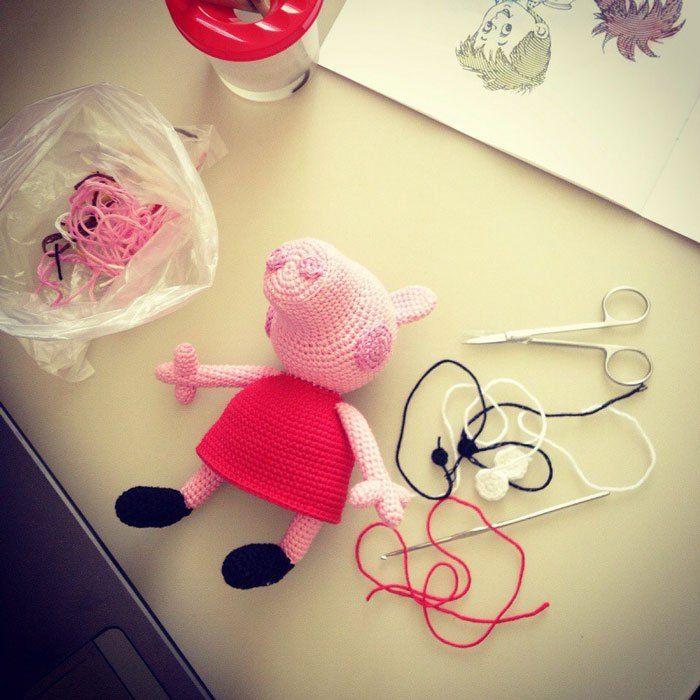 Free crochet Peppa Pig amigurumi pattern | Amigurumi | Pinterest ...