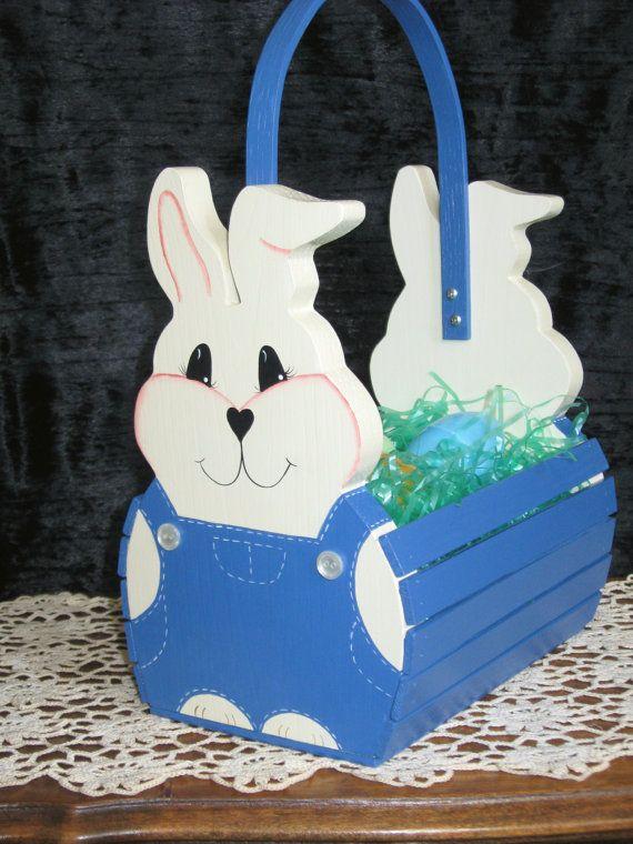 Handmade Wooden Easter Basket For Children By Thecountrytouch 45 00 Wooden Easter Basket Easter Baskets Easter Crafts Diy