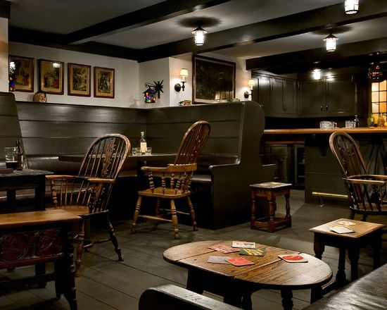 Marvellous Irish Pub Decorating Ideas With Vintage And Classic Touch Traditional Basement Authentic Pub Feel With Side S Home Pub Pub Interior Basement Design