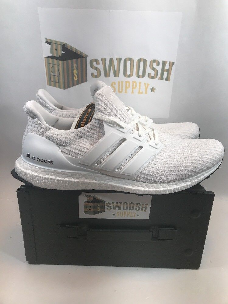 buy online 224d8 8cd73 ADIDAS UltraBoost Mens Ultra Boost 4.0 Running Shoe Triple White BB6168 SIZE  13  Adidas  AthleticSneakersRunning