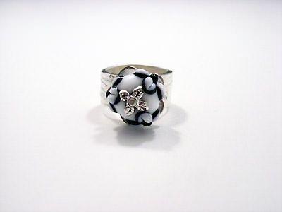 Zandstorm: Zilveren ring met glaskralen (Art Clay Silver,ringen)