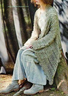 Mes Favoris Tricot Crochet Modèle Gratuit Veste Ajourée
