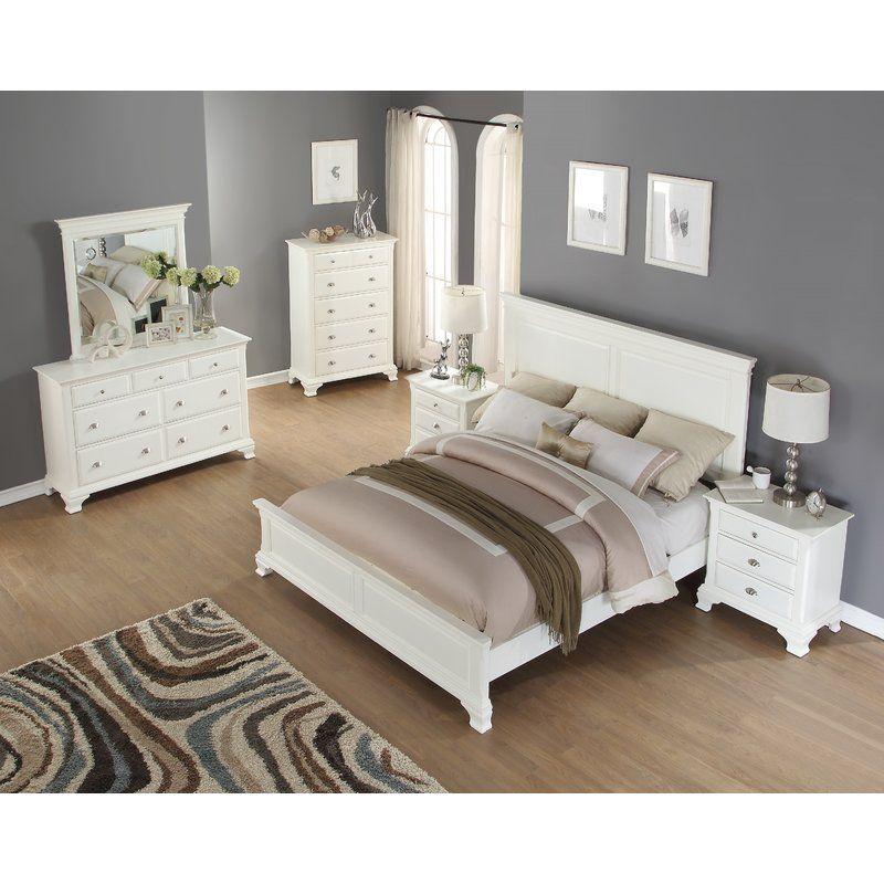 Shenk Standard Solid Wood 5 Piece Bedroom Set Bedroom Set