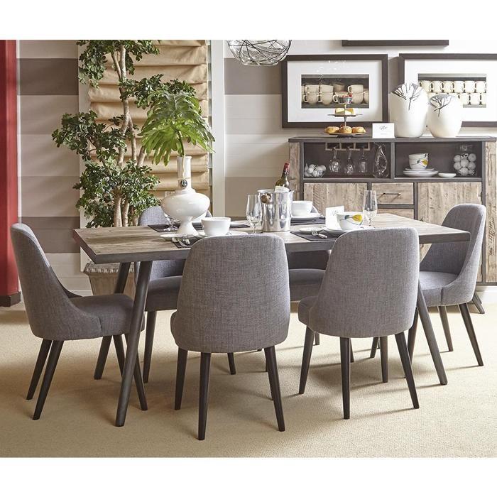 Waltham American Retrospective 7Piece Dining Set In Grey Wash Amazing Grey Dining Room Sets Design Ideas