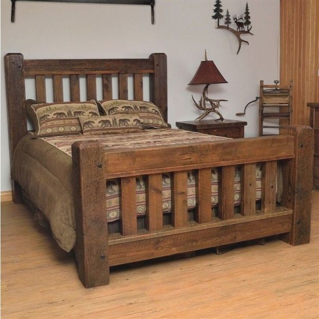 Old Sawmill Timber Frame Barn Wood Bed
