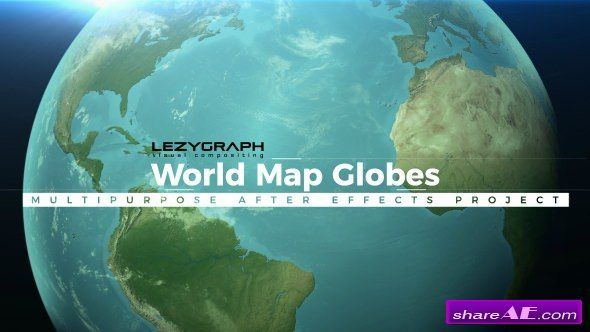 Videohive world map globes after effect pinterest map globe videohive world map globes gumiabroncs Images
