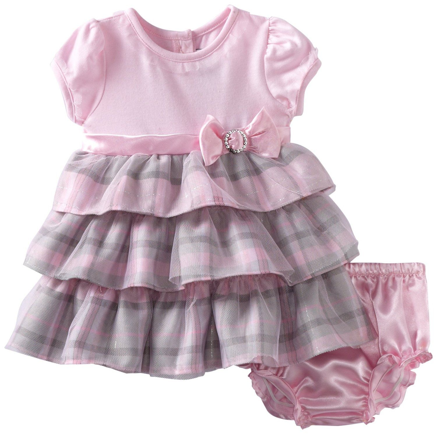 Youngland Baby-Girls Newborn Mesh Overlay Dress | My M&M's ...