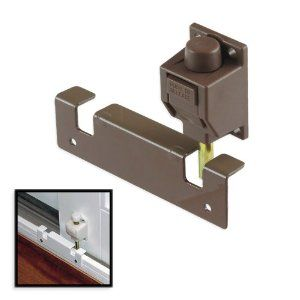 Brown Heavy Duty Sliding Door Quick Lock Foot Bolt Lock Unlock With Your Toe By Grainger Battalion Sliding Doors Sliding Door Hardware Home Security Tips