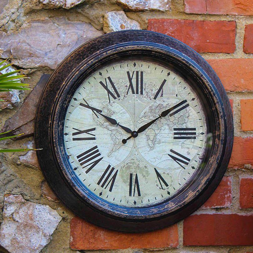 Outdoor Vintage Wall Clock Outdoor Clock Outdoor Wall