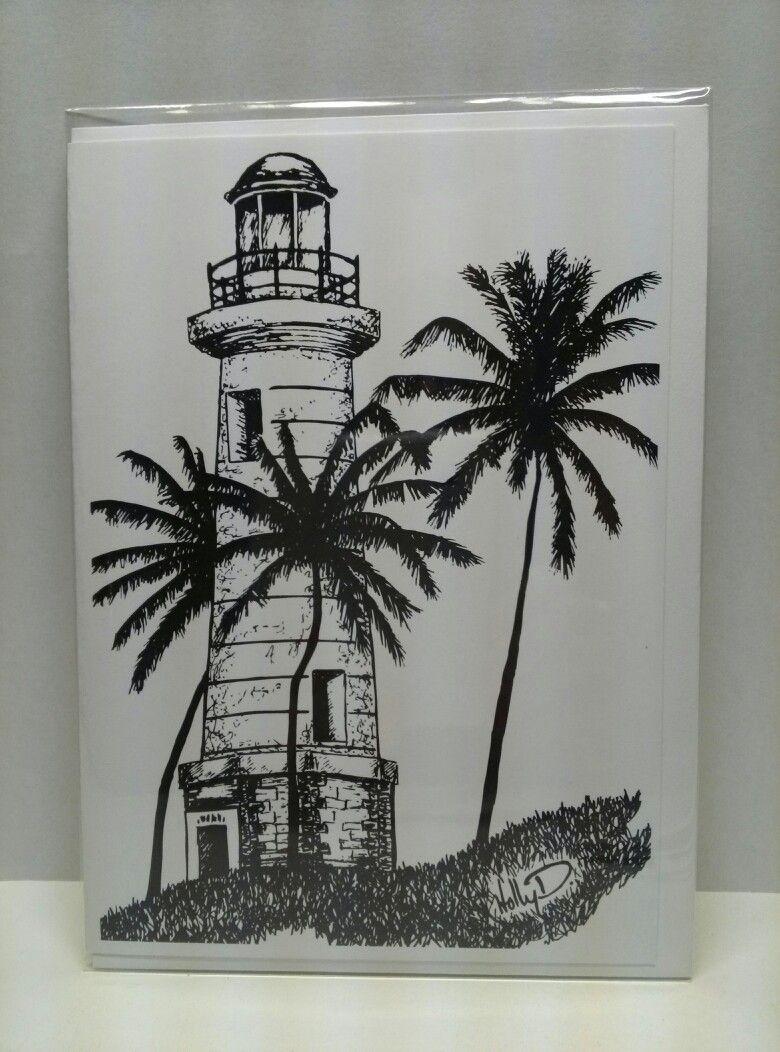 Lighthouse 5x7 Greeting Card Galle Sri Lanka Lighthouse