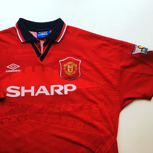 0a5f36d4c Manchester United Home Shirt 1994 96 ⚪  mufc  manchesterunited  manunited