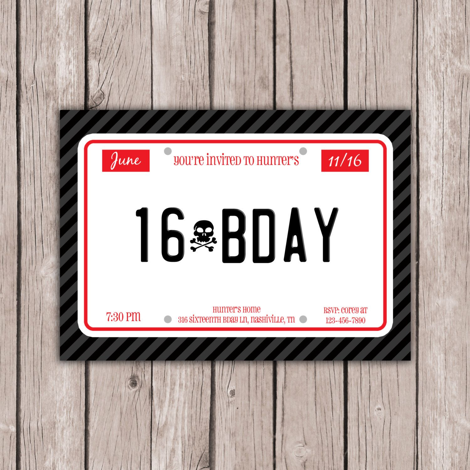 Printable 16th sixteenth birthday party invitation boys 16th printable 16th sixteenth birthday party invitation boys 16th birthday invite 16th birthday invite birthday invite 5x7 jpg filmwisefo