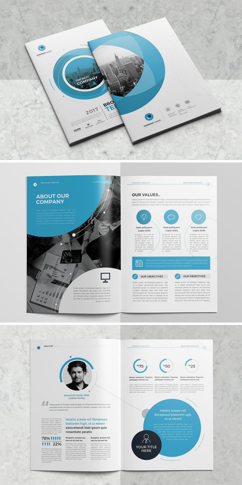 Mockup Vorlage Unternehmensbroschure Business Brochure Design Graphic Design Brochure Brochure Design