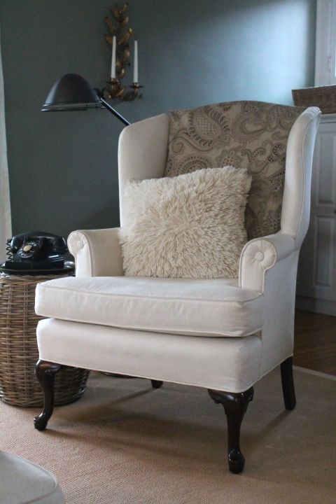 DIY :: 2 Minute Chair Change By Tucking A Piece Of Fabric In,