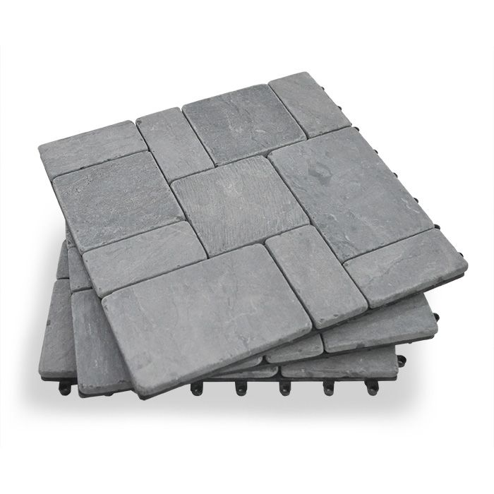Stone Deck Tiles Interlocket Do It Yourself Garden Winds Stone Deck Deck Tiles Deck Tile