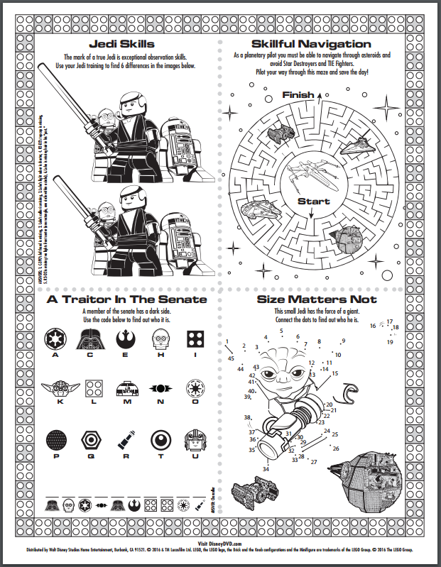 photograph regarding Star Wars Printable Activities identified as Star Wars Printables Coloring Things to do operate Lego star