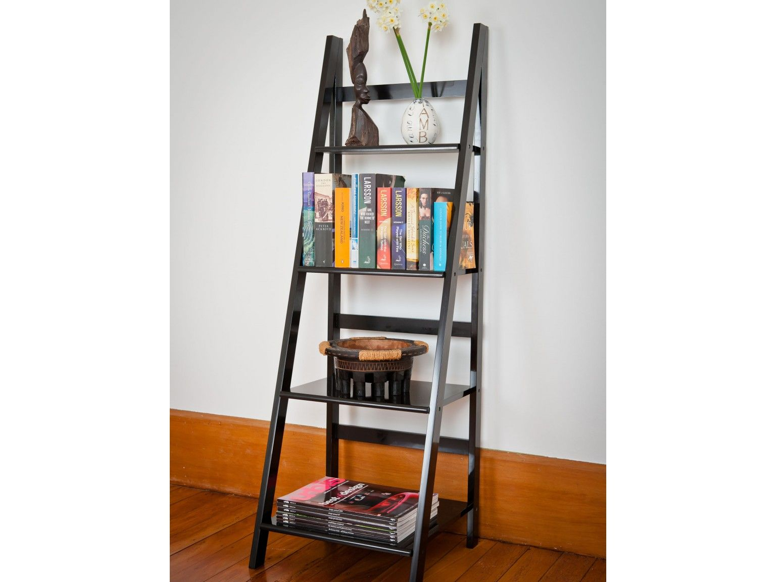 Mocka ladder shelf black the guest bedroom by appointment only