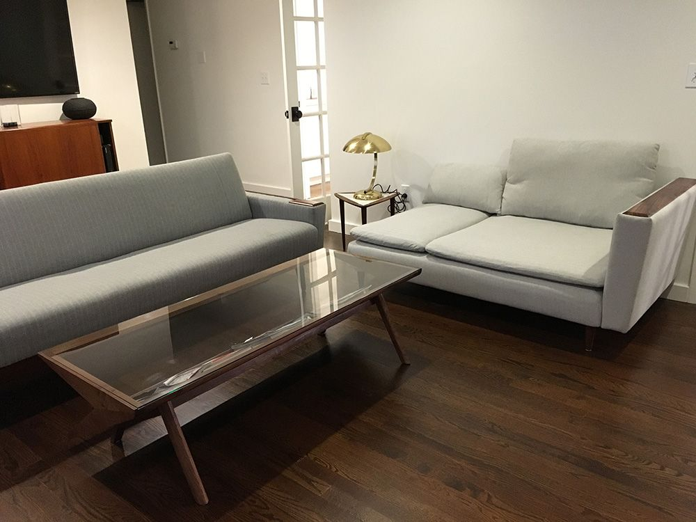 Wanting to match a chaise to our existing sofa we purchased the