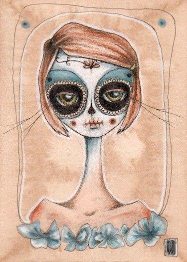 la catrina ii . Dia de los Muertos aceo print by daltonabbey, $5.00- she is an amazing artist