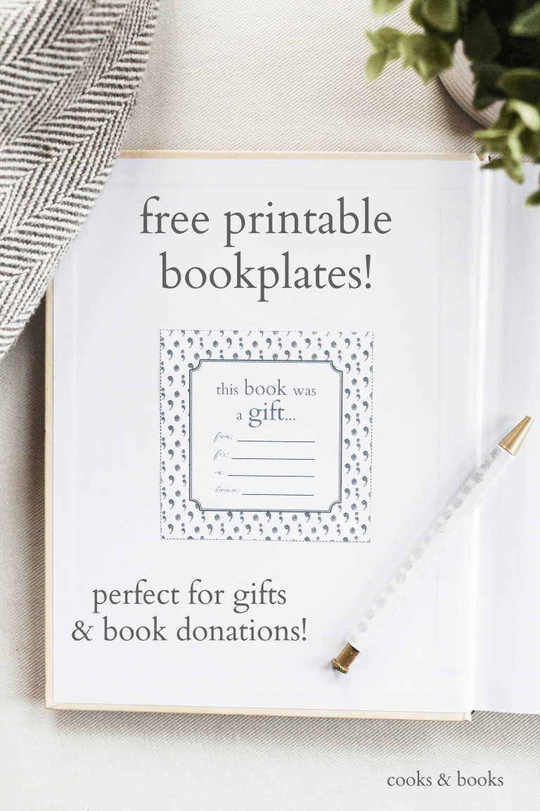 Free printable bookplates for book donations and