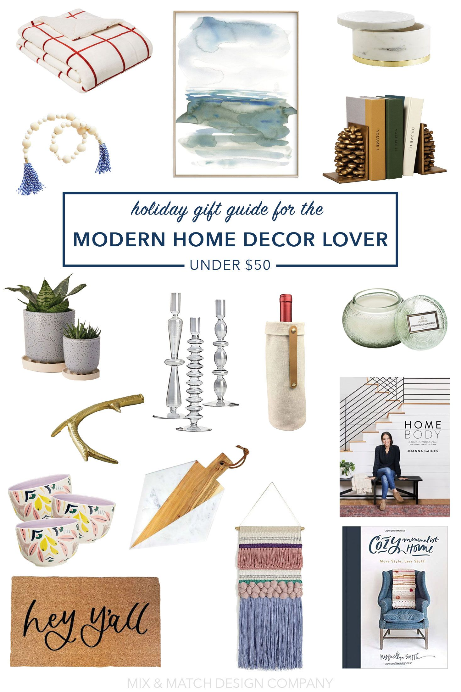 Holiday Gift Guide For The Modern Home Decor Lover Under
