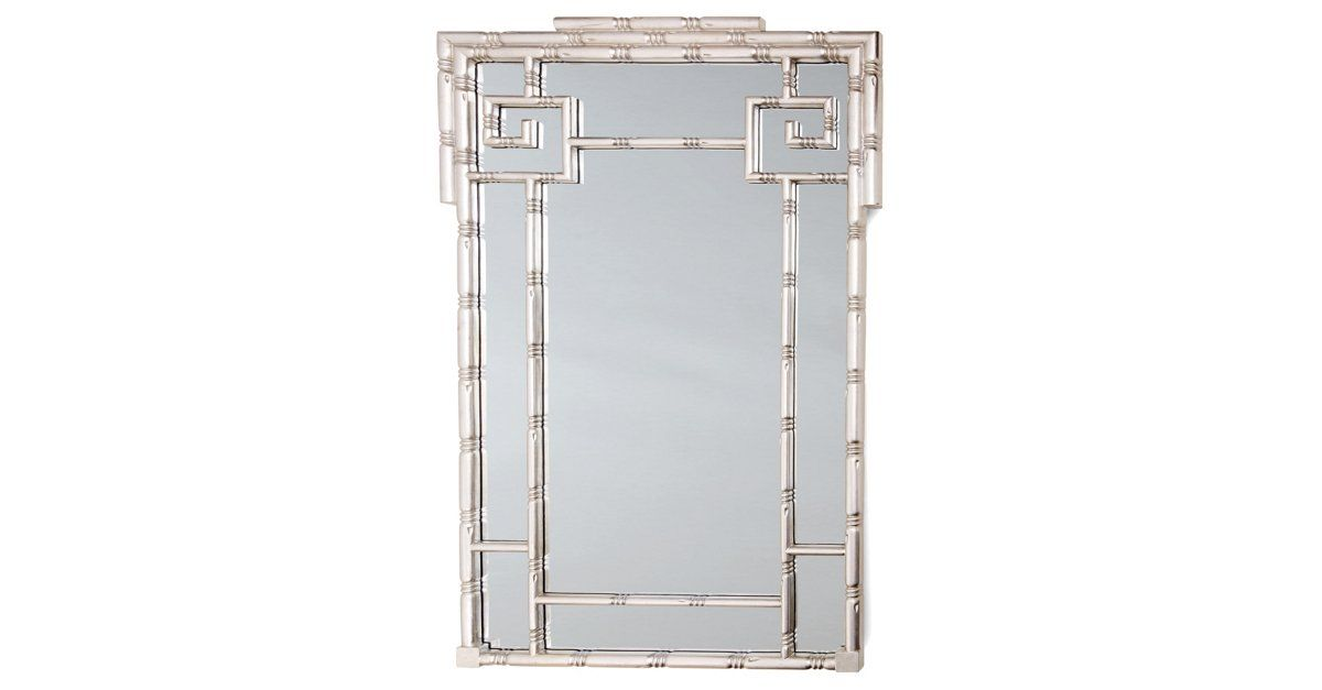 With its silver frame crafted to resemble bamboo, this mirror will bring timeless allure as well. $399