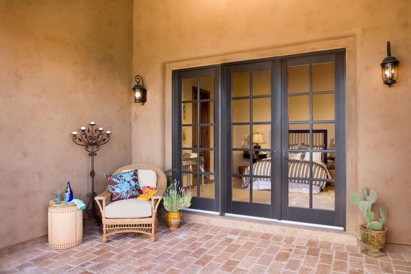 Adobe-Style Patio + ADD TO MY PROJECT + SHARE + PRINT Wood Swinging Patio ·  Sliding French DoorsSliding ... - Adobe-Style Patio + ADD TO MY PROJECT + SHARE + PRINT Wood