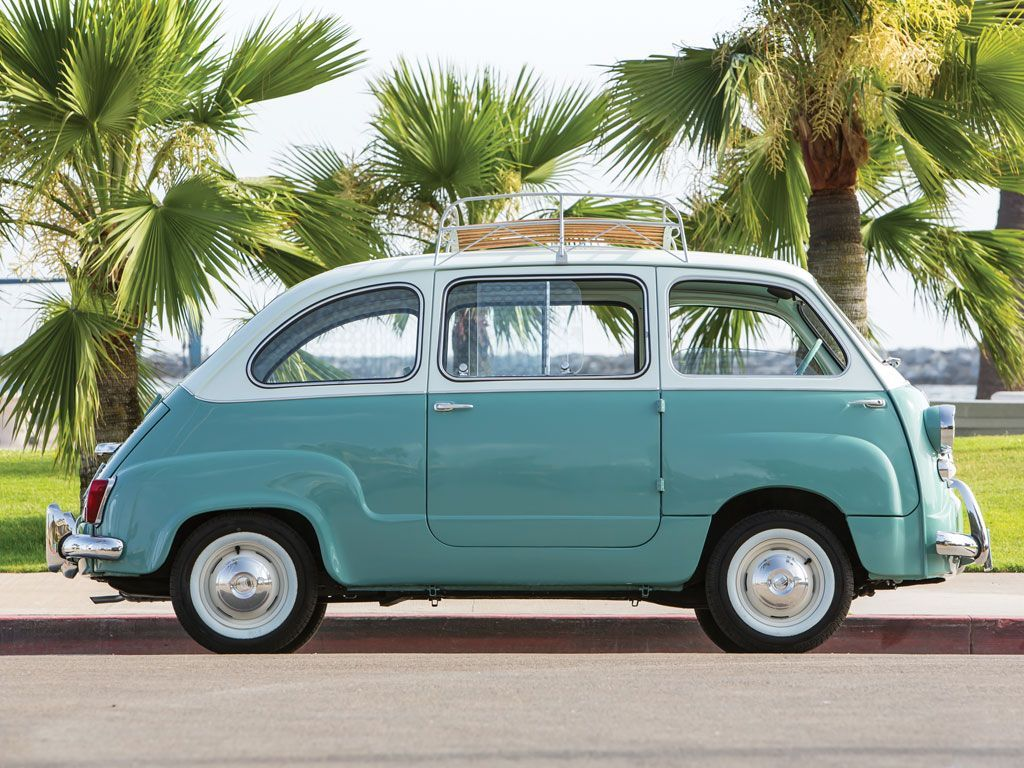 This Adorable Mint Green Fiat Twinset is For Sale | Fiat, Cars and ...