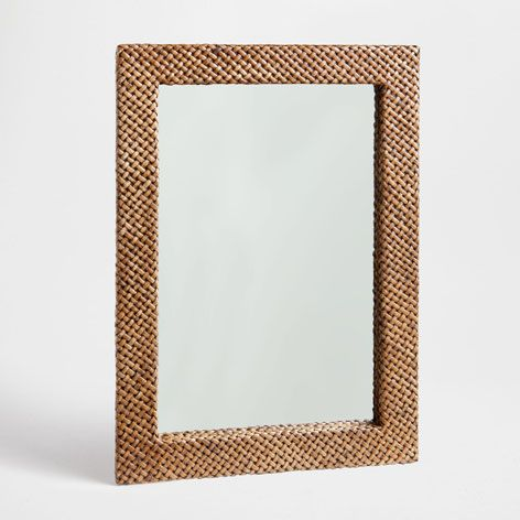 lustro z plecionej sk ry lustra dekoracja zara home. Black Bedroom Furniture Sets. Home Design Ideas