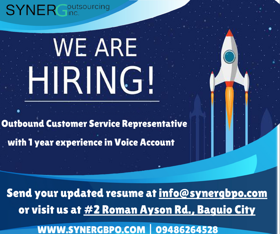 Build your future with us! Syner G Outsourcing Inc. is