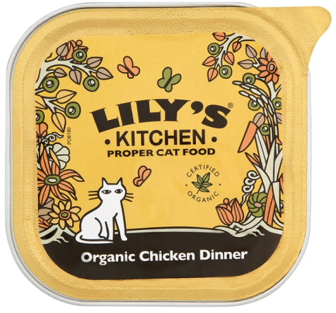 12.65 Lily\'s Kitchen Organic Chicken Cat Food 100g x 16 | Lily\'s ...