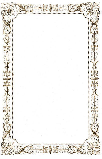 antique frame border. Free Antique Clip Art - French Tombstone Catalog The Graphics Fairy Mais Frame Border M
