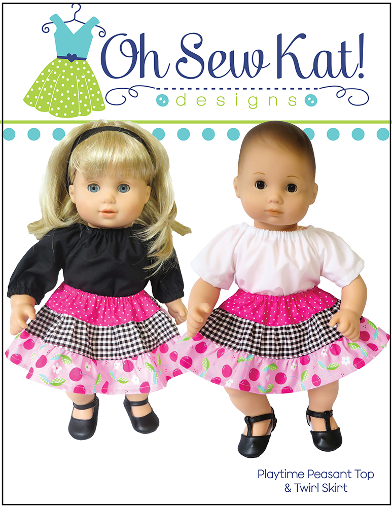 """American Girl BITTY BABY  TWIRLY TIERED DRESS for 15/"""" Baby Dolls Clothes NEW"""