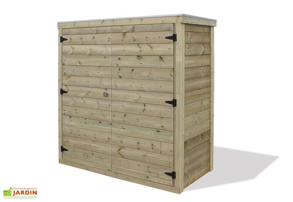 Armoire de Jardin Haute en Bois Pax (89x182x189cm) | Outils de ...