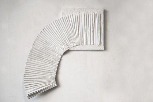 hourgold:Anna Mikhailovskaia Untitled (White Train) 2013 acrylic, found material and acrylic medium on canvas