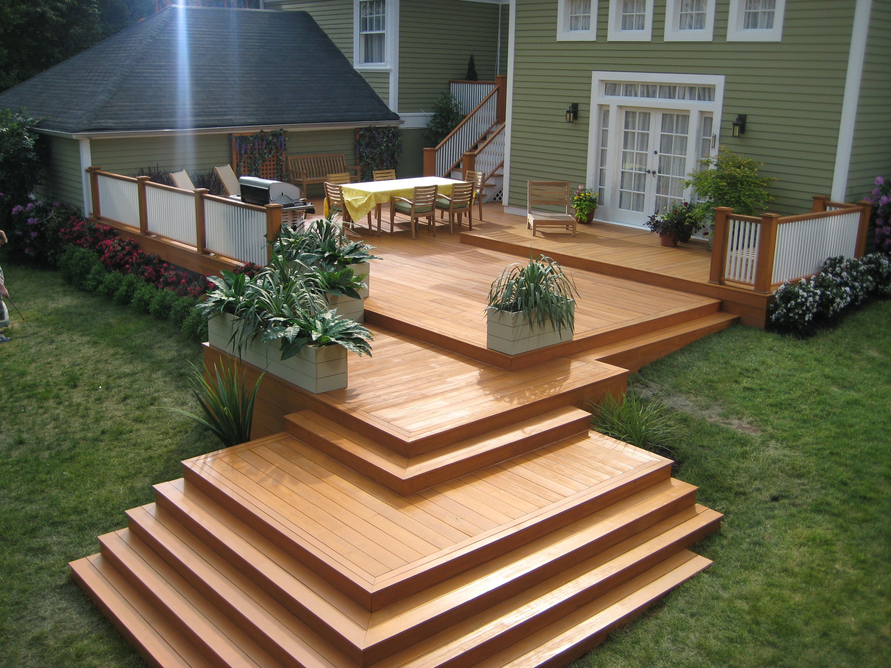 olympic stain deck this is a carpenter s nightmare but on modern deck patio ideas for backyard design and decoration ideas id=21441