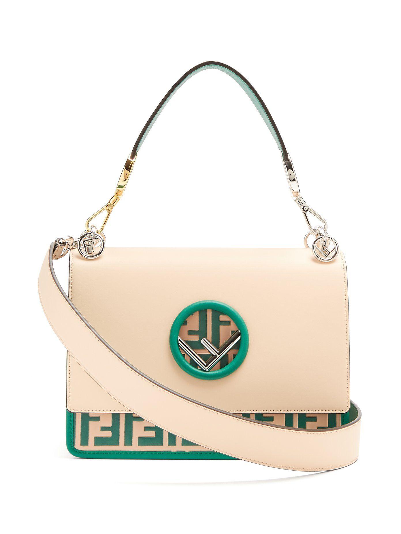 dcb8b525 Kan I Logo leather shoulder bag   Fendi   MATCHESFASHION.COM ...