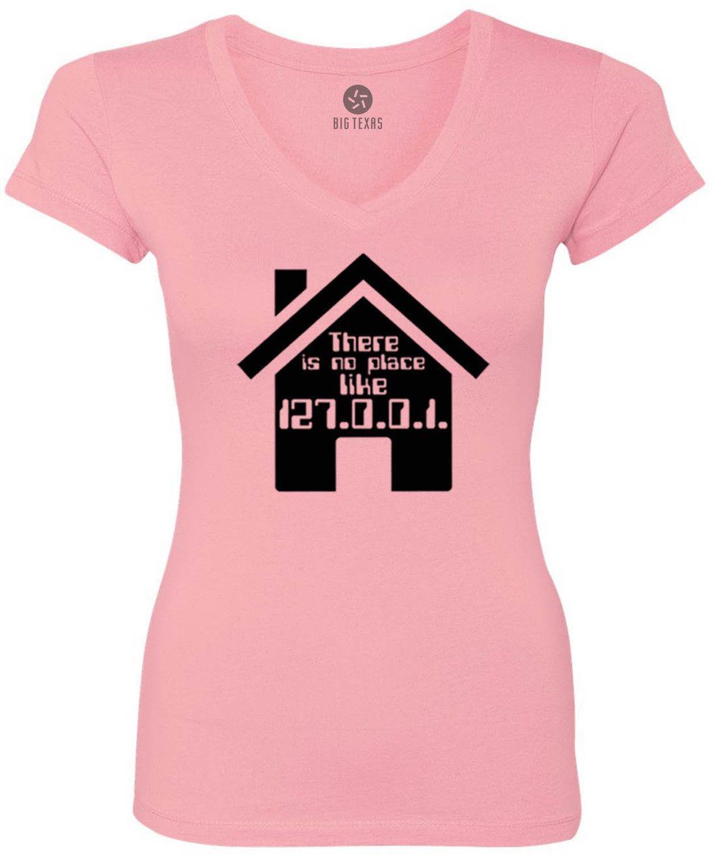No Place Like Home (Black) Women's Short-Sleeve V-Neck T-Shirt