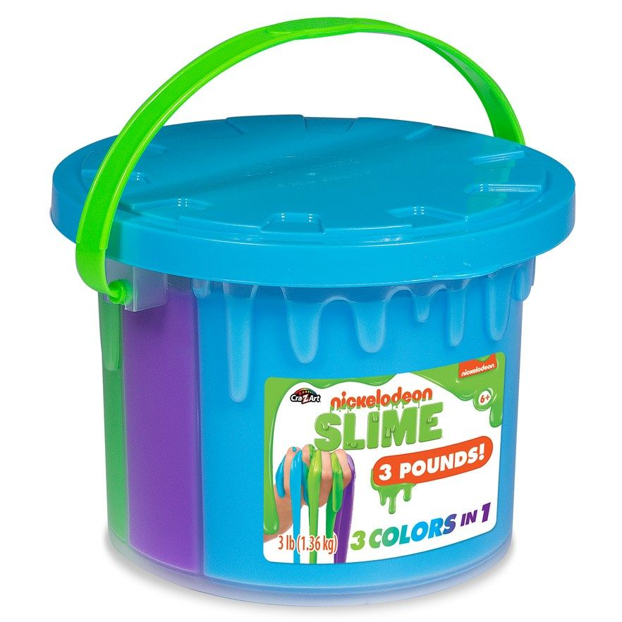 Nickelodeon Slime Tri Color 48 Oz Tub By Cra Z Art