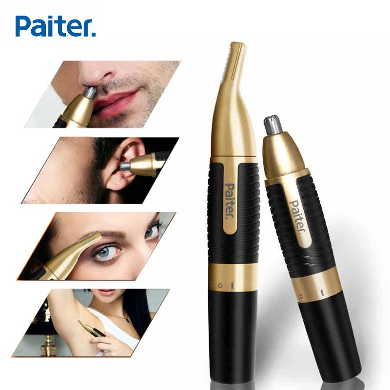 Paiter men electric nose trimmer for nose ear sideburns