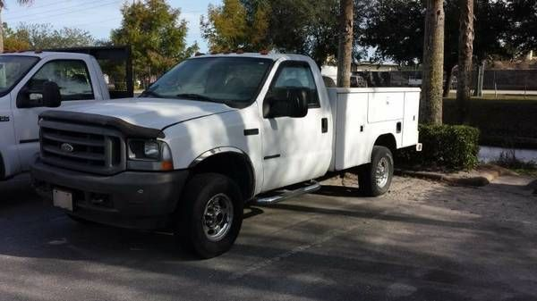 2001 Ford F350 4X4 Service Truck, Reading Body, 170,000 ...
