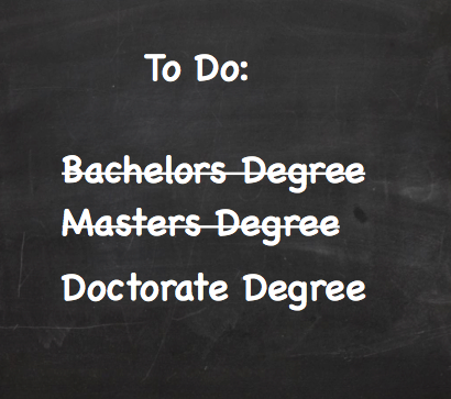 Work in Progress - Doctorate Degree | Me In Progress, Ed D