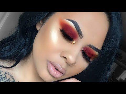 the best easy eyeshadow tutorials  red eyeshadow red