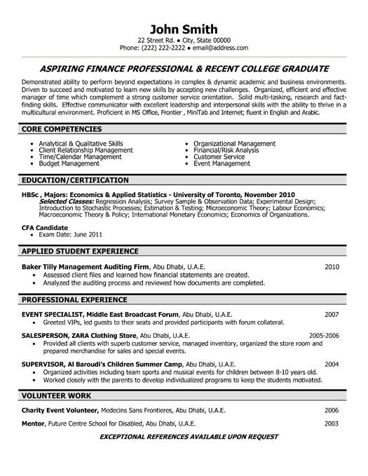 Resume Templates For Recent College Graduates Click Here To Download This Transit Operator Resume Template Http