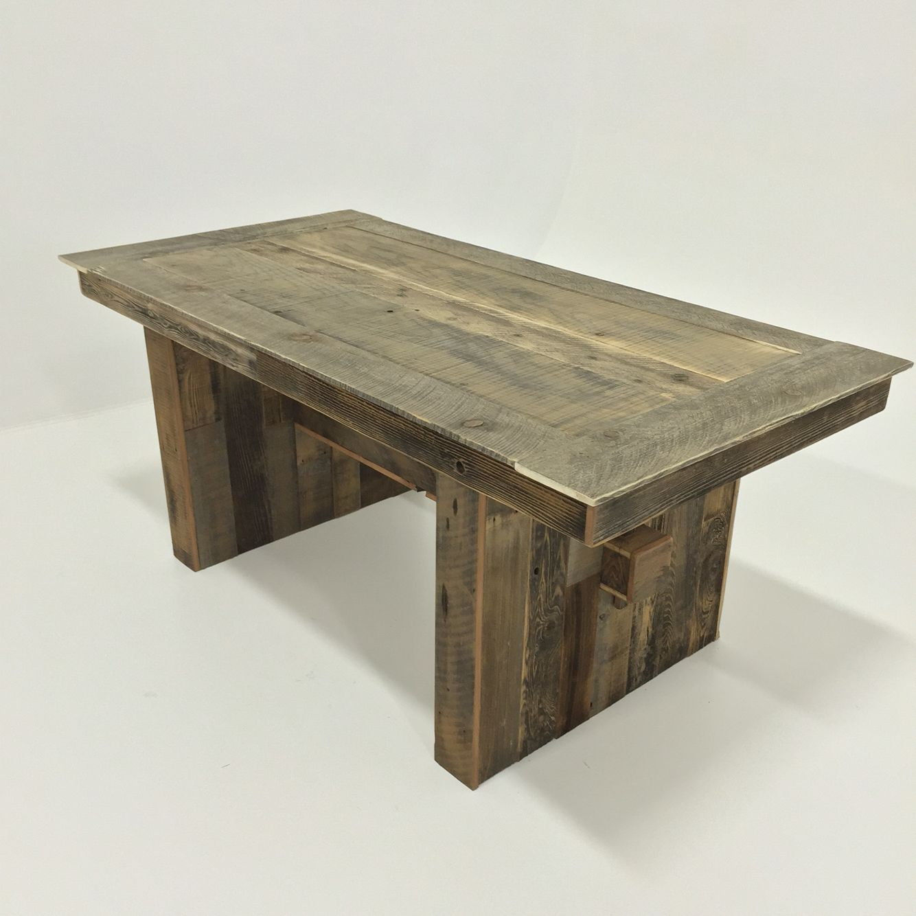 Dining table made from old fence boards Mettle and Wood