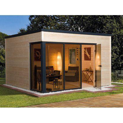 Weka DesignHolzGartenhaus Cubilis A Natur B x T 380 cm