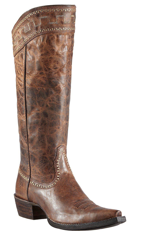 Ariat® Sahara™ Women's Sassy Brown Snip Toe Tall Cowboy Boots ...