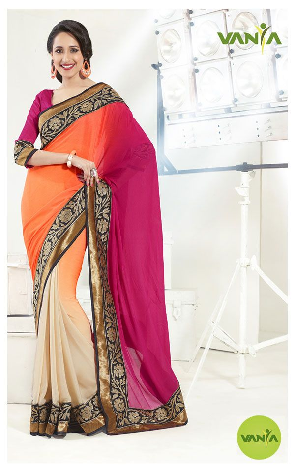 Colorful #Saree (No 328) by Vanya http://www.pinterest.com/vanyadesigner/pins/