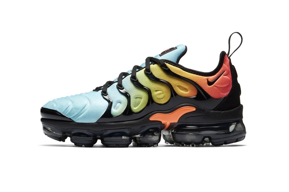 d29ba6f4f8c90 Nike Air VaporMax Plus Tropical Sunset 2018 January 25 Release Date Info  Sneakers Shoes Footwear Blue Yellow Green Orange Red