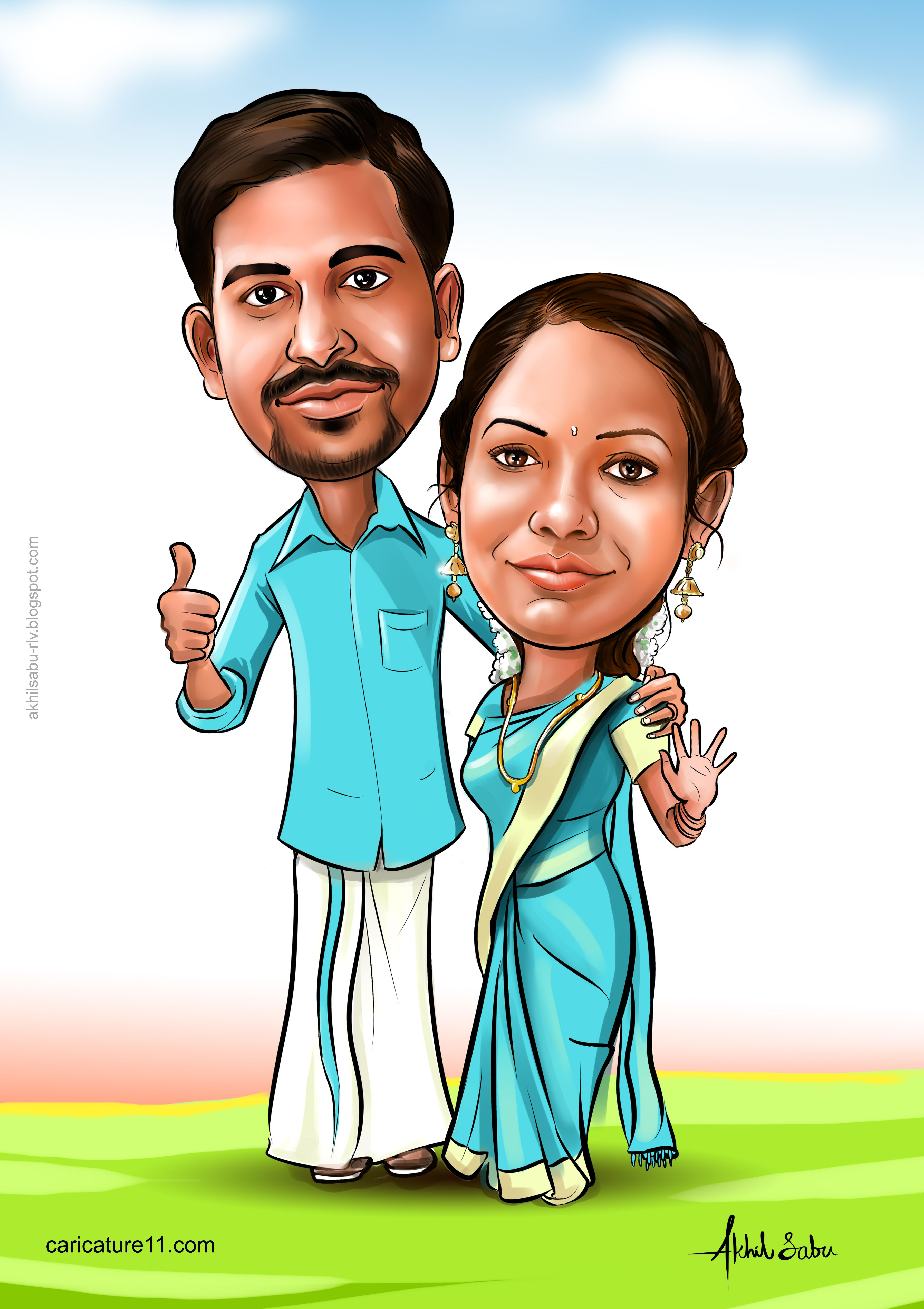 India wedding caricature Wedding caricature, Caricature